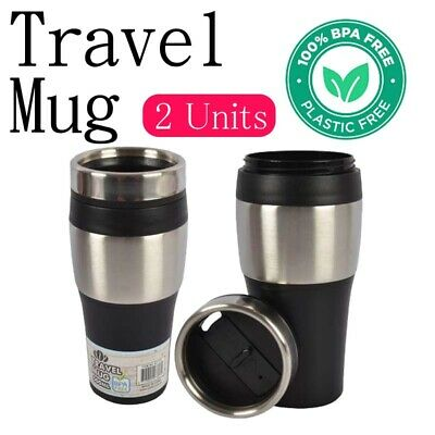 AU20.99 • Buy 2x Hot Cold Drinks Thermos Water Travel Mug Vacuum Flask Insulated Coffee Cup