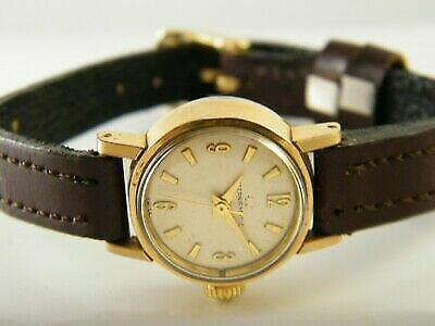 GENUINE VINTAGE ETERNA MATIC AUTOMATIC SWISS WOMEN'S GOLD PLATED WATCH -a112888 • 259.84£