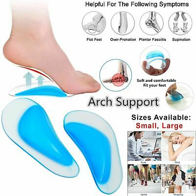 Orthotic Heel Support Massaging Cushion Gel Pad Pain Relief Foot Shoe Insoles UK • 2.59£