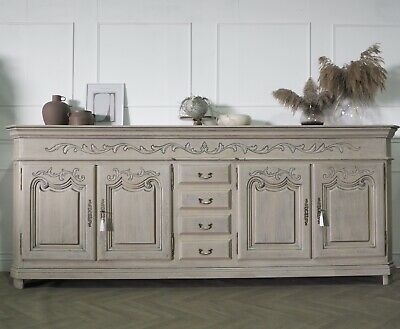 £1695 • Buy Extra Large French Farmhouse Rustic Sideboard In Limed Oak
