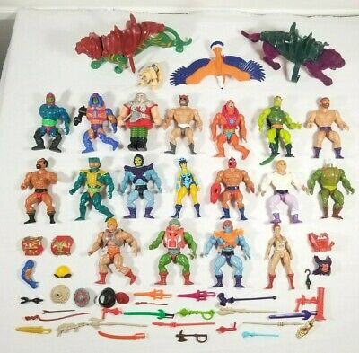 $499 • Buy Huge Lot Vintage He-Man MOTU Action Figures And Weapons