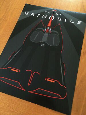 Batmobile From 1966 Batman TV Series - A3 Graphic Art Print - Limited Edition • 9.95£