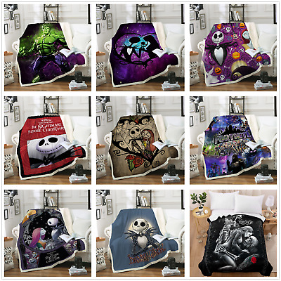 3D Blanket Skull Warm Soft Fleece Faux Fur Gothic Bed Sofa Throw Tapestry Kids • 23.99£