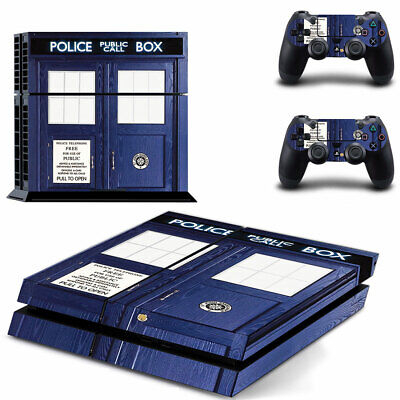 AU14.95 • Buy Playstation 4 PS4 Console Skin Decal Sticker Dr Who +2 Controller Skin