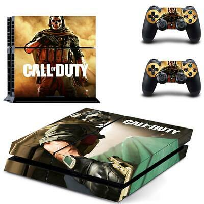 AU14.95 • Buy Playstation 4 PS4 Console Skin Decal Sticker Call Of Duty +2 Controller Skin