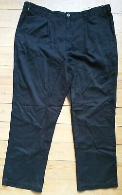Atlantic Bay Black Cotton Chinos Trousers, W42in, Inseam 31in, 3 Pockets BHS • 7£