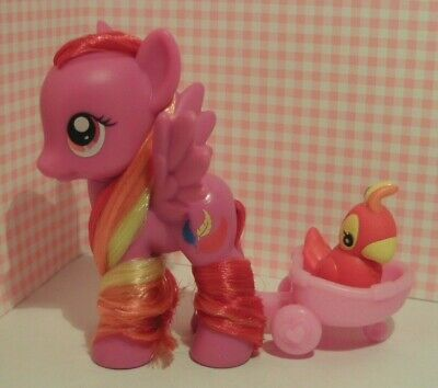 My Little Pony G4 Feathermay With Carriage + Parrot - Combine Shipping • 26.50£