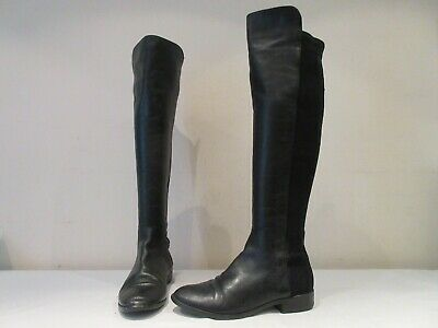 Clarks Caddy Belle Black Leather Over Knee Stretch Boots Uk 5.5 D (3596) • 15£