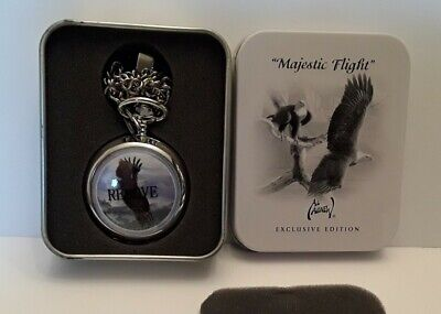$6 • Buy AVON Al Agnew  Majestic Flight  Pocket Watch W/chain Preowned/Unused No Papers