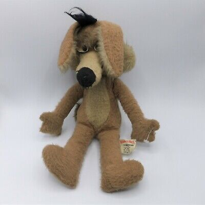 Wile E. Coyote Plush Mighty Star Canada 1960s 14  Vtg Toy Warner Brothers • 21.27£