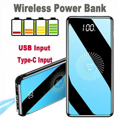 View Details 9000000mAh Portable Power Bank USB LCD Wireless Backup Battery Charger For Phone • 23.73£