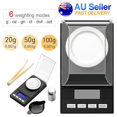 AU21.61 • Buy Digital Pocket Scale Jewellery Gram Scales 6 Units Electronic Milligram Micro Mg