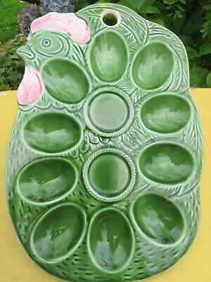 Green  Ceramic  Chicken Shaped Wall Hanging   Egg Storage.  • 9.95£