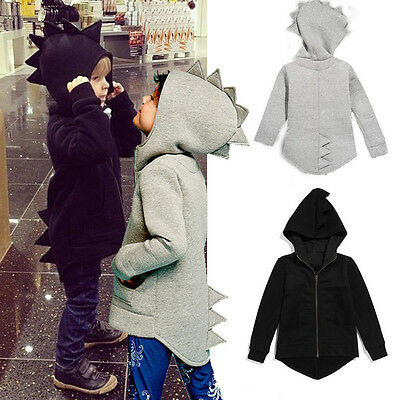 Child Kids Baby Dinosaur Style Hooded Coat Boys Outwear Jacket Tops Clothes  63 • 7.69£