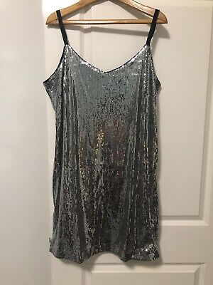 AU59 • Buy Asos Curve By Simple Dress Sequin All Over Adjustable Straps Lined BNWT Size 20