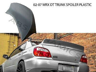 $229.99 • Buy DuckTail Style Spoiler For 2002-07 SUBARU IMPREZA WRX Unpainted Black Plastic