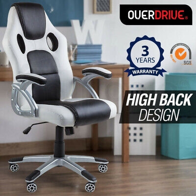 AU139 • Buy 【EXTRA10%OFF】OVERDRIVE Racing Office Chair- Seat Executive Computer Gaming