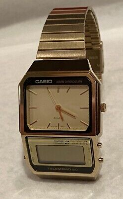 $ CDN129.36 • Buy Vintage Casio Watch AB-200G AB200G Telememo 20 # 321 Gold Tone For Parts !
