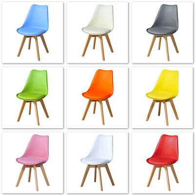 £39.99 • Buy 10 Color Wooden Dining Chairs Solid Wood Leg ABS Plastic Dining Room Chairs