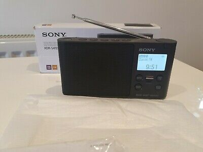 Sony DS41 DAB Radio - Black (No Mains Lead) - Fully Working Never Used Mint • 39£