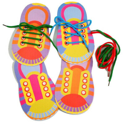 £3.19 • Buy 1 X Learn To Lace Tie Shoes Practice Lacing Learning Shoe Children's Shoelace