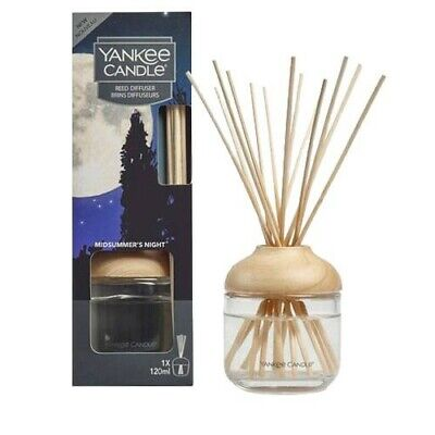 YANKEE CANDLE MIDSUMMERS NIGHT REED DIFFUSER 120ML Home Fragrance GIFT XMAS • 16.99£