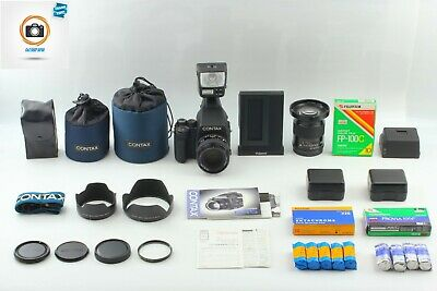 $ CDN10582.50 • Buy CONTAX 645 AF FILM CAMERA W/ 80MM 35MM 2LENSES, FLASH, POLABACK, MORE SET
