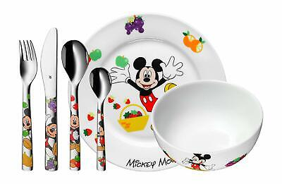 WMF Disney Mickey Mouse Tableware Children Girls 6 Pieces Plate Bowl And Cutlery • 148.22£