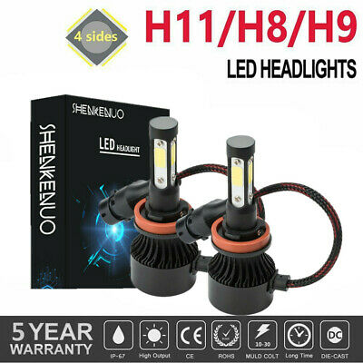 AU21.79 • Buy 2X H11 H8 H9 4-Side 360° Beam LED Car Headlights High Low Bulbs Kit Globes White