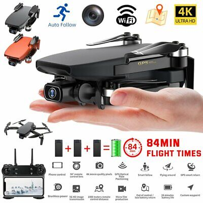 AU232.93 • Buy 5G 4K GPS Drone X Pro With HD Dual Camera Drones WiFi FPV Foldable RC Quadcopter