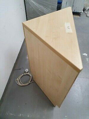 90⁰ Open Corner Unit. Light Beech Finish With Glass Shelves. New, Ex-display • 110£
