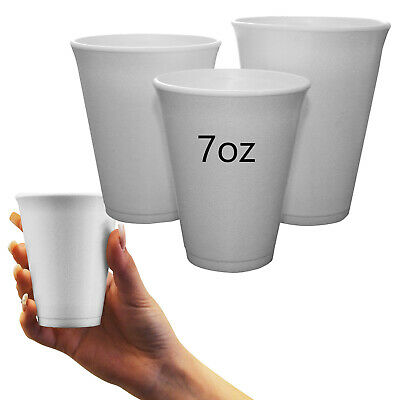 1000 X DART 7oz 207ml Insulated Tea Coffee Hot Drink Disposable Polystyrene Cups • 38.99£