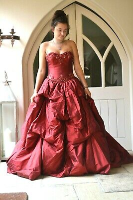 £1300 • Buy Coco Couture Red Wedding Or Ballgown Size 12 Bnwt - Corset Fastening