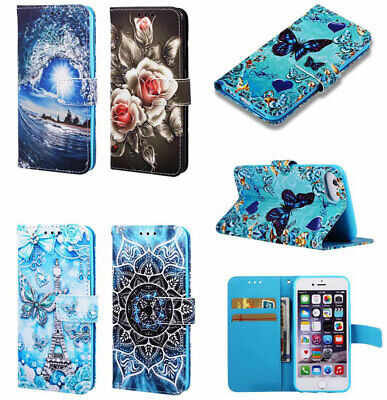 PU Leather Wallet Case Flip Cover Stand Card For Samsung LG Xiaomi IPhone Model • 4.99£