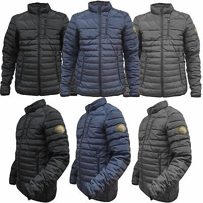 £14.99 • Buy Ex-Brand Mens Jackets Zip Up Quilted Lined Bubble Coat Padded Puffer Winter Warm