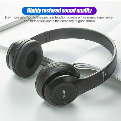 £7.99 • Buy Wireless Bluetooth Headphones With Noise Cancelling Over-Ear Stereo Earphones UK