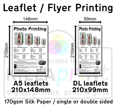 £11.95 • Buy A5 Or DL Leaflet/flyer Printing, 100 For Just £9.95, Xerox Press Printed