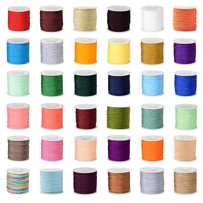 £4.94 • Buy 98.43yards/roll Nylon Thread Chinese Knotting Cord Jewelry Beading String 0.8mm