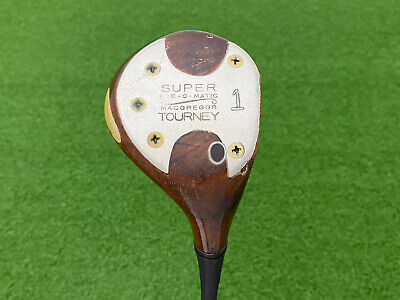 $49.99 • Buy RARE MacGregor Golf TOURNEY EYE-O-MATIC 925W TOMMY ARMOUR Persimmon DRIVER Right