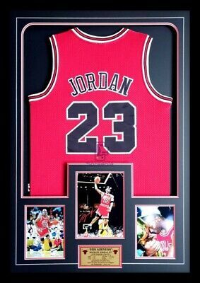 AU795 • Buy Michael Jordan Chicago Bulls Authentic Nba Finals Jersey Signed Photo Framed