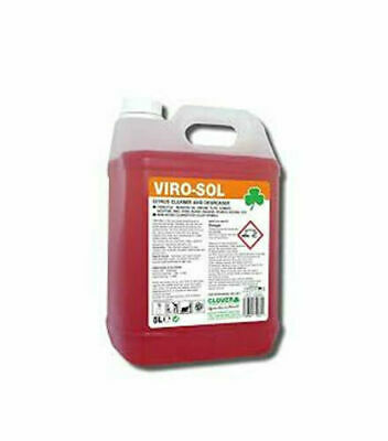 Viro-sol Citrus Based Cleaner - Degreaser 5L By Clover Chemicals Inc Fast P&P • 13.90£