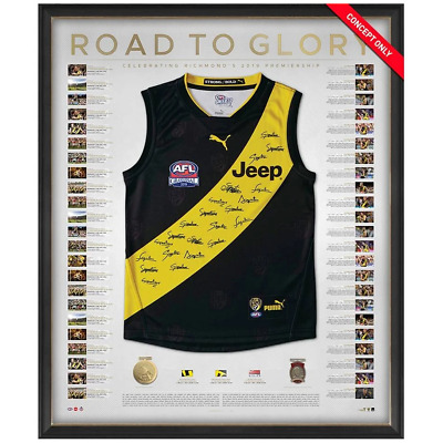 AU2995 • Buy Richmond 2019 Premiers Team Signed Official AFL Guernsey Deluxe Framed + COA