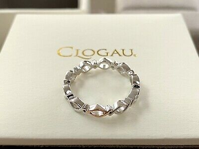 Clogau Affinity Life Stacking Ring Sterling Silver Welsh Gold Rose Gold Size M • 69.50£