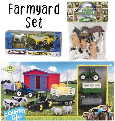 £19.99 • Buy Farmyard Playset 20 Piece - Kids Toddler Childrens Toy Play Set Animals Tractor