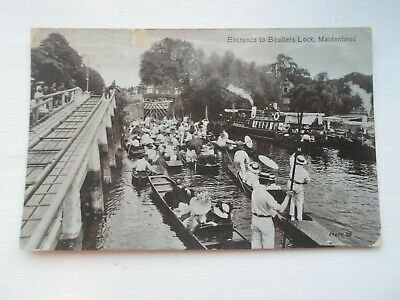 MAIDENHEAD, Entrance To Boulters Lock,  Old Postcard, Franked 1914 §DP1536 • 8.99£