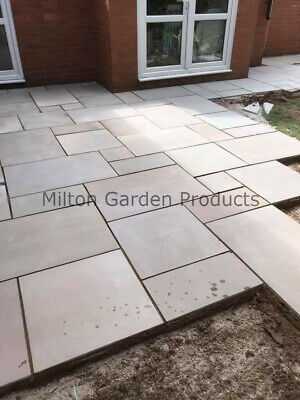 Raj Green Smooth Indian Stone 20mm Mixed Sizes 19m2 Pack Sawn Honed Paving  • 643.99£