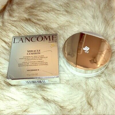 Brand New Unopened Lancome Miracle Cushion Foundation Refill 420 Bisque N 14 G • 14.99£