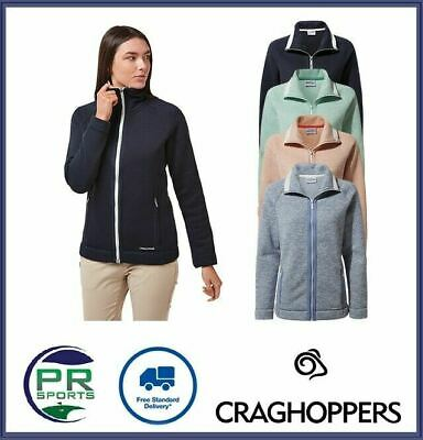 New Craghoppers Womens Outdoor Alphia Full Zip Jacket Insulated Micro Fleece • 18.99£