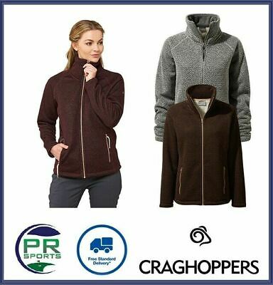 New Craghoppers Womens Outdoor Winter Nairn Full Zip Fleece Jacket Warm • 21.99£