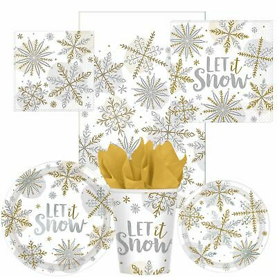 £3.96 • Buy Christmas Party Snowflake Design Tableware Plates Napkins Table Cover Cups